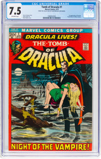 Tomb of Dracula #1 (Marvel, 1972) CGC VF- 7.5 Off-white pages