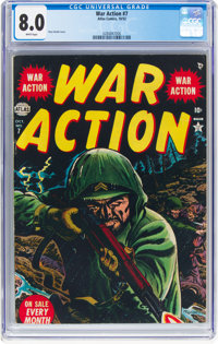 War Action #7 (Atlas, 1952) CGC VF 8.0 White pages