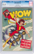Golden Age (1938-1955):Superhero, Wow Comics #23 (Fawcett Publications, 1944) CGC VF 8.0 Off-white pages....