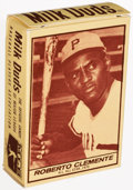 Baseball Cards:Singles (1970-Now), 1971 Milk Duds (Complete Box) Roberto Clemente. ...