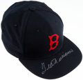 Baseball Collectibles:Hats, Ted Williams Boston Red Sox Signed Hat. ...