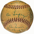 Autographs:Baseballs, 1956 Cleveland Indians Team Signed Baseball (24 Signatures)....