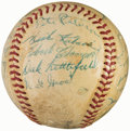 Autographs:Baseballs, 1955 Pittsburgh Pirates Team Signed Baseball - Roberto Clemente Rookie Year (29 Signatures)....