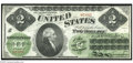 Fr. 41a $2 1862 Legal Tender Choice Crisp Uncirculated. This is perhaps the first missing red seal large size note that...