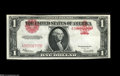 "Fr. 40 $1 1923 Legal Tender Extremely Fine+. A striking and very rare error as the seal and right ""1"" are shif..."