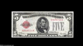 Error Notes:Inverted Reverses, Fr. 1525 $5 1928 Inverted Reverse Legal Tender AboutUncirculated....