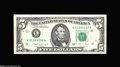 Error Notes:Inverted Reverses, Fr. 1981-K $5 1988A Inverted Reverse Federal Reserve Note ExtremelyFine....