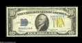 Error Notes:Inverted Reverses, Fr. 2309 $10 1934A North Africa Silver Certificate ExtremelyFine-About Uncirculated....