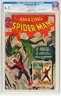 The Amazing Spider-Man #2 (Marvel, 1963) CGC FN+ 6.5 Off-white to white pages
