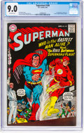 Silver Age (1956-1969):Superhero, Superman #199 (DC, 1967) CGC VF/NM 9.0 Off-white pages....