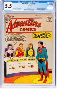Adventure Comics #247 (DC, 1958) CGC FN- 5.5 Off-white to white pages