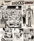 "Original Comic Art:Complete Story, Dave Gibbons 2000 AD #267 Complete 2-Page Story ""Skirmish!"" Original Art (IPC, 1982).... (Total: 2 Original Art)"