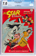 Golden Age (1938-1955):Superhero, All Star Comics #39 (DC, 1948) CGC FN/VF 7.0 Off-white to white pages....
