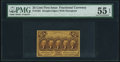 Fractional Currency:First Issue, Fr. 1281 25¢ First Issue PMG About Uncirculated 55 EPQ.. ...