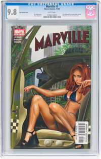 Marville #1 Foil Variant Cover (Marvel, 2002) CGC NM/MT 9.8 White pages