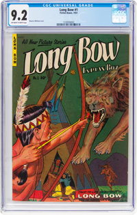 Long Bow #1 (Fiction House, 1951) CGC NM- 9.2 Off-white to white pages