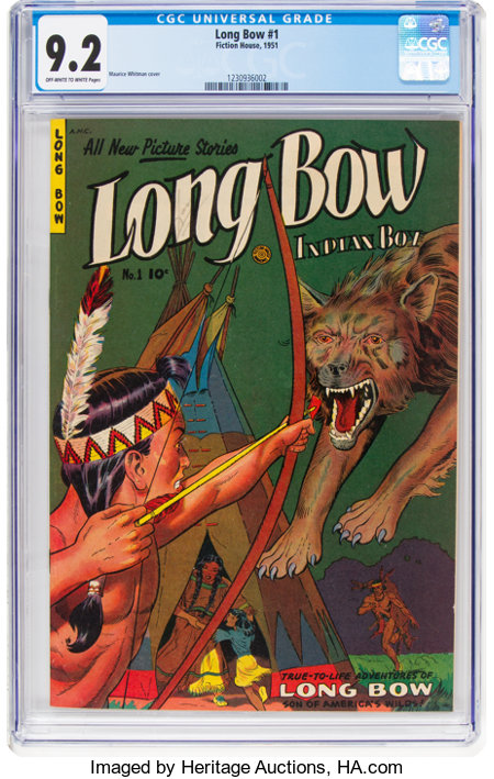 Long Bow #1 (Fiction House, 1951) CGC NM- 9.2 Off-white to white pages....