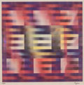 Prints & Multiples, Yaacov Agam (b. 1928). Nine Squares, n.d.. Agamograph. 14 x 14 inches (35.6 x 35.6 cm). Ed. 73/99. Signed and numbered i...