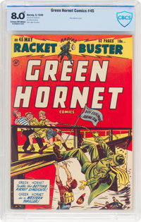 Green Hornet Comics #45 (Harvey, 1949) CBCS VF 8.0 Cream to off-white pages