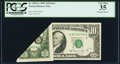 Error Notes:Foldovers, Printed Foldover Error Fr. 2025-G $10 1981 Federal Reserve Note.PCGS Very Fine 35.. ...