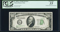 Error Notes:Obstruction Errors, Partially Obstructed Overprint Error Fr. 2007-G $10 1934B Federal Reserve Note. PCGS Very Fine 35.. ...