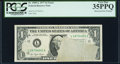 Error Notes:Obstruction Errors, Obstructed Face Printing Error Fr. 1909-L $1 1977 Federal ReserveNote. PCGS Very Fine 35PPQ.. ...