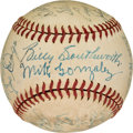 Baseball Collectibles:Balls, 1940 St. Louis Cardinals Team Signed Baseball from The Enos Slaughter Collection. ...