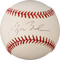Baseball Collectibles:Balls, 2000's President George W. Bush Single Signed Baseball from The Enos Slaughter Collection. ...