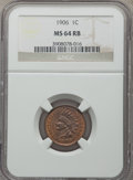 Indian Cents: , 1906 1C MS64 Red and Brown NGC. NGC Census: (472/207). PCGS Population: (859/173). MS64. Mintage 96,022,256. ...