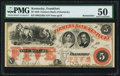 Obsoletes By State:Kentucky, Frankfort, KY- Farmers Bank of Kentucky $5 18__ PMG About Uncirculated 50.. ...