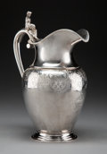 Silver & Vertu:Pitchers, A John Cook Neoclassical Coin Silver Pitcher with Figural Handle, New York, circa 1860. Marks: JC (within joined lozenge...
