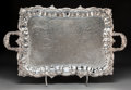 Silver Holloware, American:Trays, An American Silver-Plated Two-Handled Tray, late 19th-early 20th century . Marks: M, (fleur-de-lis), (crowned C), SILV...