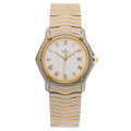 Estate Jewelry:Watches, Ebel Gentleman's Stainless Steel, Electroplated Gold Wave Watch . ...