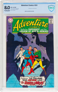 Adventure Comics #361 (DC, 1967) CBCS VF 8.0 Off-white to white pages