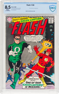 The Flash #168 (DC, 1967) CBCS VF+ 8.5 White pages