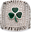 "Basketball Collectibles:Others, 2008 Boston Celtics NBA Championship Ring Presented to Center Glen ""Big Baby"" Davis...."