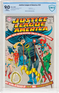 Justice League of America #53 (DC, 1967) CBCS VF/NM 9.0 White pages
