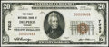 National Bank Notes:Kansas, Delphos, KS - $20 1929 Ty. 1 The First NB Ch. # 7532 Very Fine-Extremely Fine.. ...