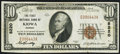National Bank Notes:Kansas, Kiowa, KS - $10 1929 Ty. 1 The First NB Ch. # 8220 Very Fine-Extremely Fine.. ...