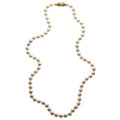 Estate Jewelry:Necklaces, Cultured Pearl, Gold Convertible Necklace. ...