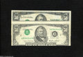 Error Notes:Inverted Third Printings, A Pair of Inverted Third Printing $50 Federal Reserve Notes.... (2notes)