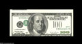 Error Notes:Inverted Third Printings, Fr. 2175-L $100 1996 Federal Reserve Note. Gem New....