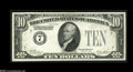 Error Notes:Missing Third Printing, Fr. 2001-B $10 1928A Federal Reserve Note. Choice About Uncirculated....