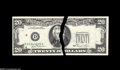 Error Notes:Partial Third Printing, Fr. 2073-D $20 1981 Federal Reserve Note. Choice Crisp Uncirculated...