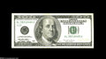 Error Notes:Partial Third Printing, Fr. 2175-L $100 1996 Federal Reserve Note. Extremely Fine....