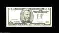 Error Notes:Third Printing on Reverse, Fr. 2126-L $50 1996 Federal Reserve Note. Choice About Uncirculated....