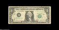 Error Notes:Mismatched Serial Numbers, Fr. 1913-B $1 1985 Federal Reserve Note. Fine+....