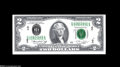 Error Notes:Doubled Third Printing, Fr. 1935-D $2 1976 Federal Reserve Note. About Uncirculated....