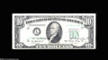 Error Notes:Doubled Third Printing, Fr. 2011-L $10 1950A Federal Reserve Note. Fine....