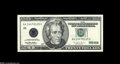 Error Notes:Doubled Third Printing, Fr. 2083-A $20 1996 Federal Reserve Note. About New....